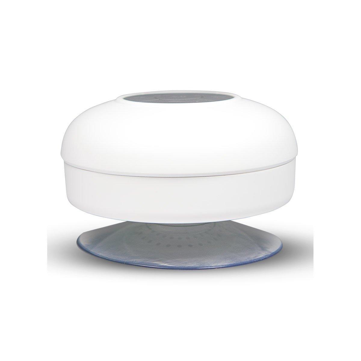 Waterdichte bluetooth badkamer speaker wit | MobileSupplies.nl