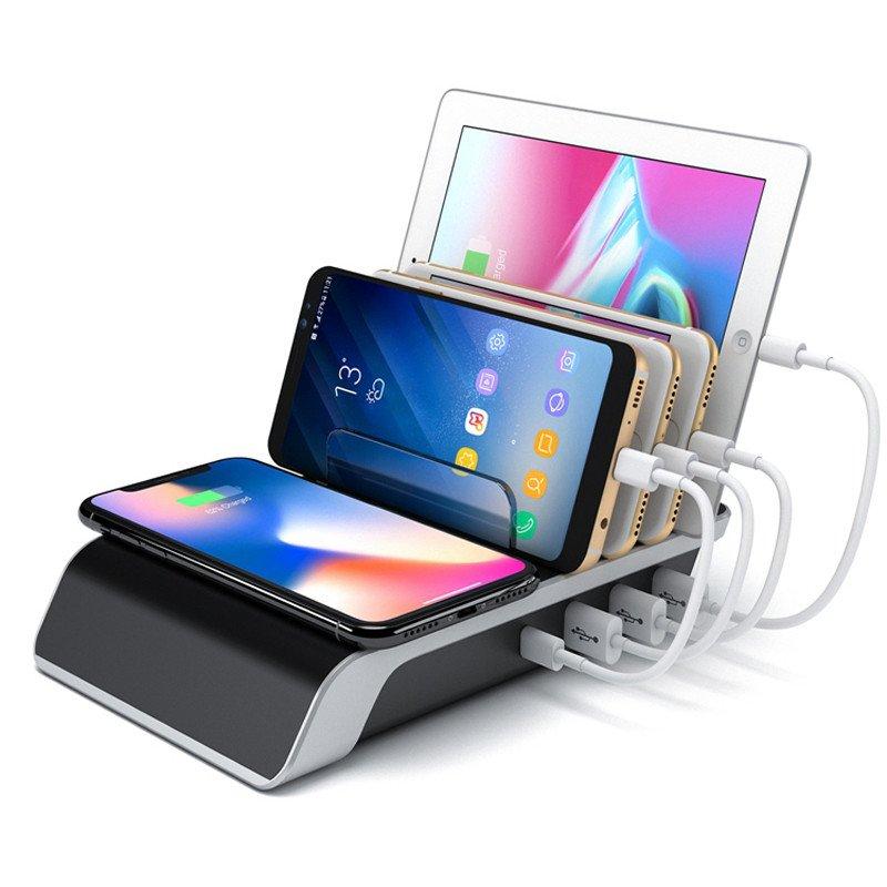 4 poorts USB laad station + 1x draadloos