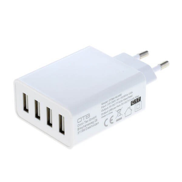 4 poorts USB lader adapter universeel - 5A - AutoID