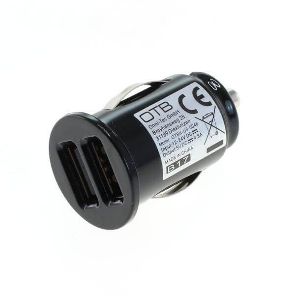 Autolader 2x USB universeel - 4,8A AutoID