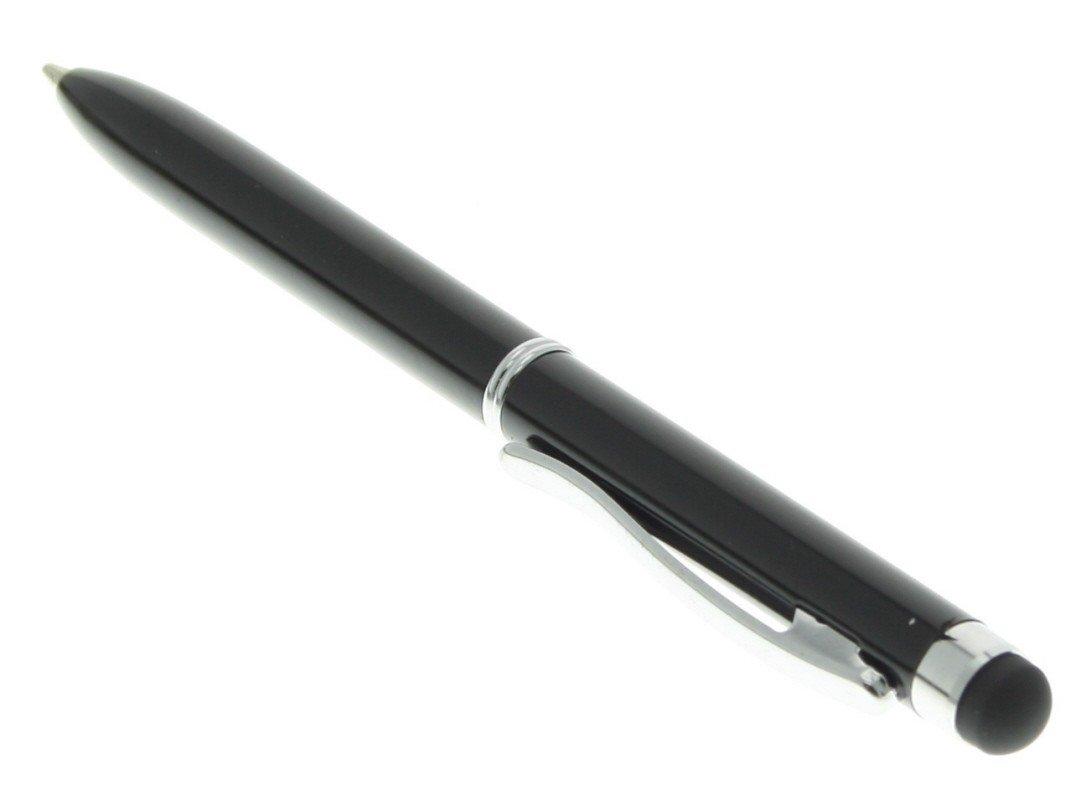 Balpen met stylus functie zwart