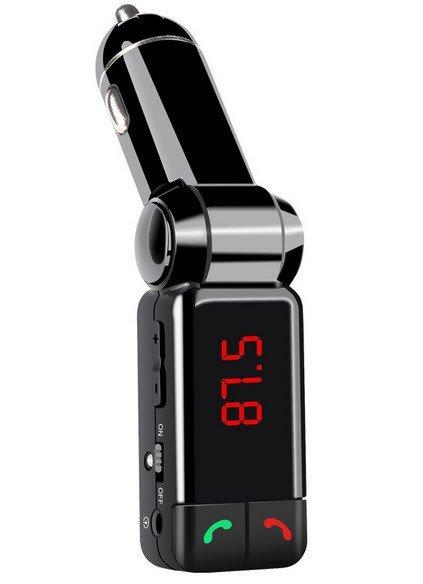 Bluetooth carkit met FM transmitter en USB lader