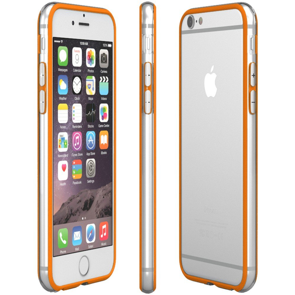 bumper hoesje apple iphone 6 oranje uitstekende bescherming. Black Bedroom Furniture Sets. Home Design Ideas