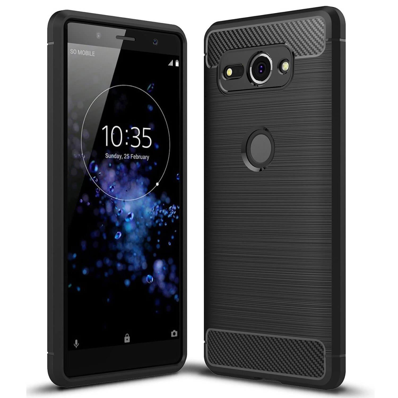 Carbon TPU hoesje Sony Xperia XZ2 Compact zwart
