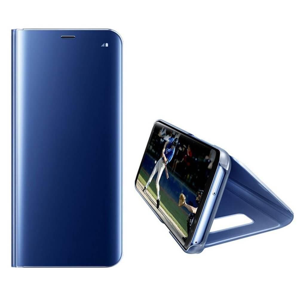 Clear View cover Samsung Galaxy S6 Edge Plus blauw