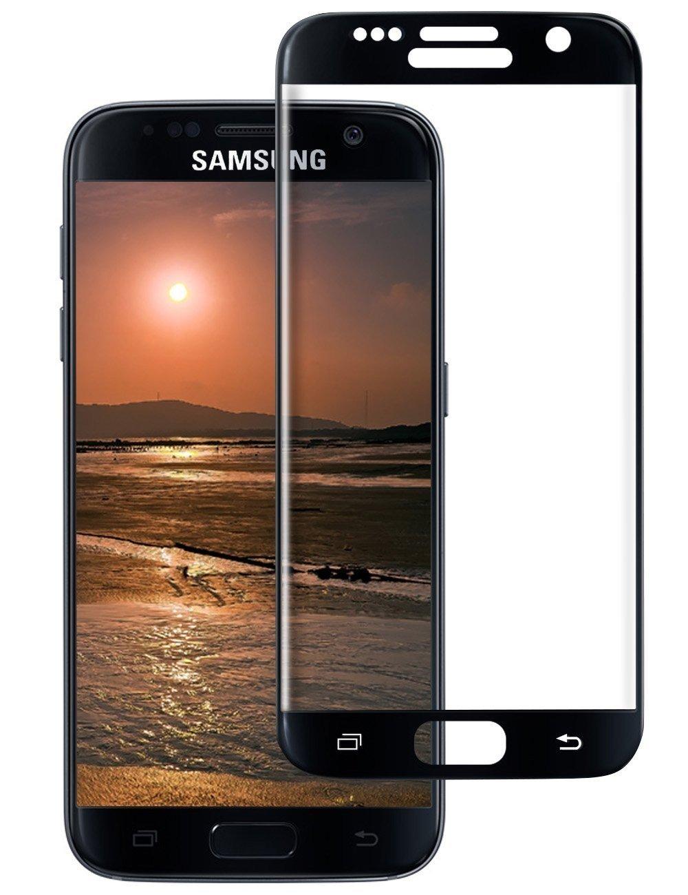 Tempered Glass (volledig scherm) Samsung Galaxy S7 zwart