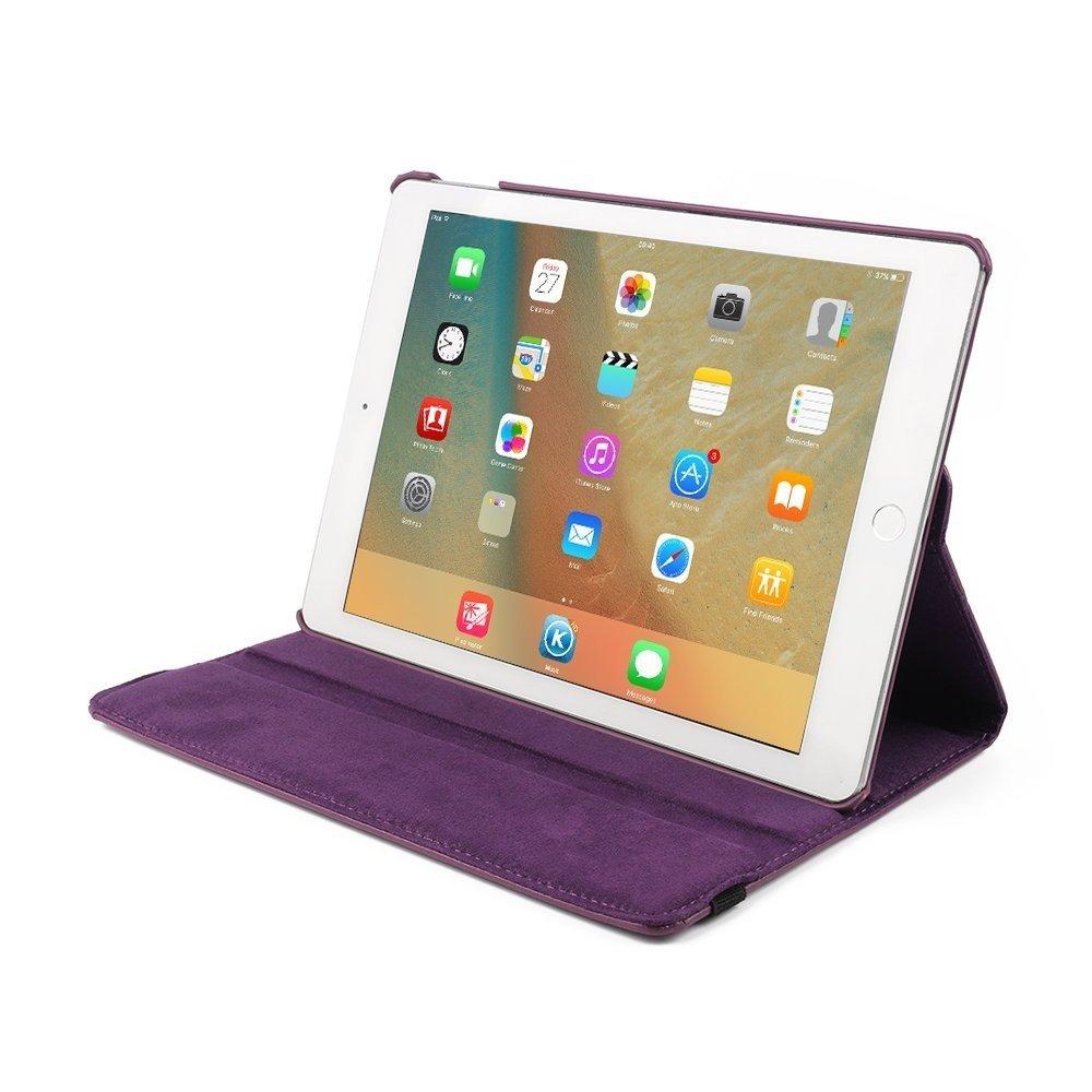 Hoes draaibaar iPad 9.7 2017 en iPad 9.7 2018 paars