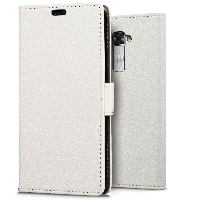 Hoesje LG K10 flip wallet wit