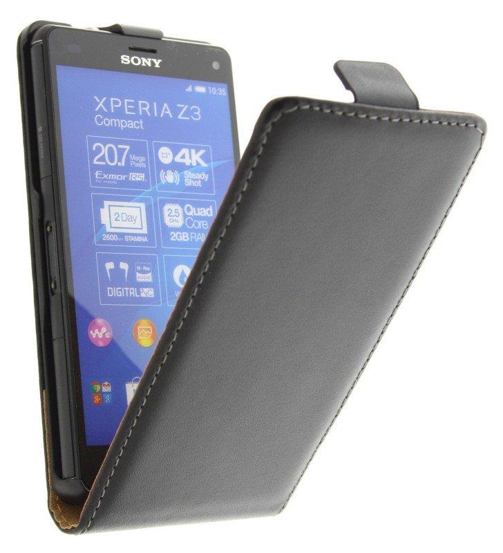 Cas Flip Noir Pour Z3 Sony Xperia Compact 7ZeBydGgt