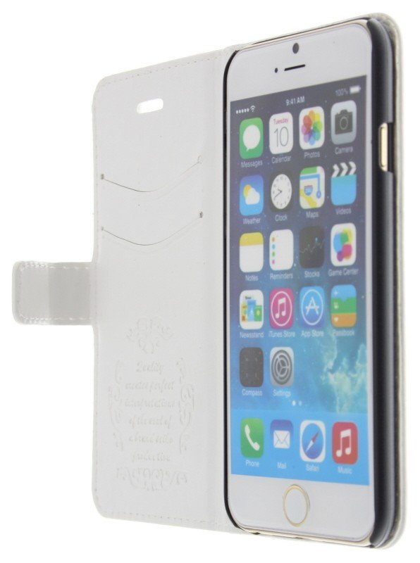 Case Design hard phone cases : Supply Flip case met stand iPhone 6 wit - MobileSupplies.nl