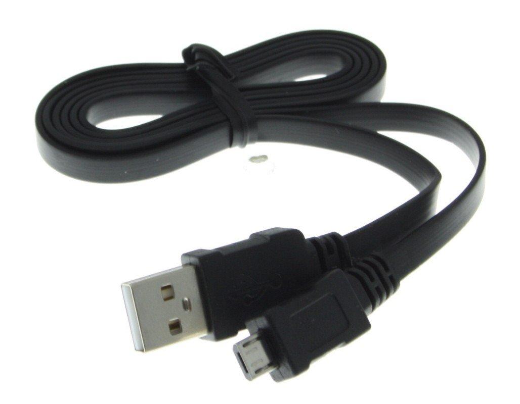 micro usb datakabel met platte kabel universeel zwart 0. Black Bedroom Furniture Sets. Home Design Ideas