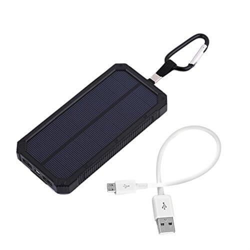Solar powerbank batterij - 2x USB - 30000 mAh