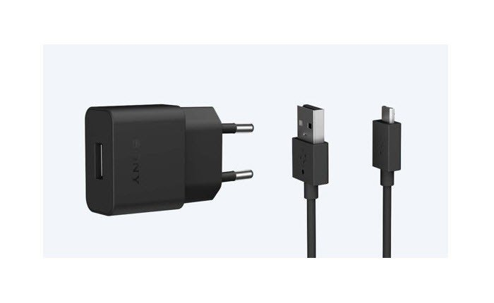 Sony lader UCH20 + UCB20 USB-C laad set - zwart