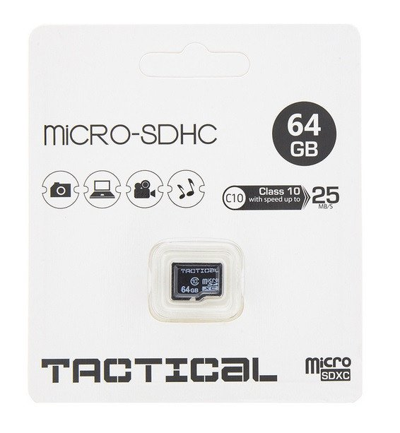Tactical MicroSDXC kaart 64GB C10/UHS-1