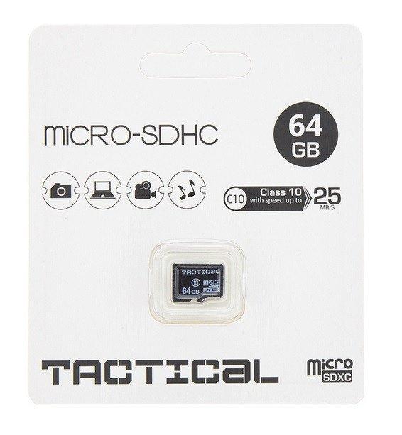 Tactical MicroSDXC kaart 64GB C10/UHS-1