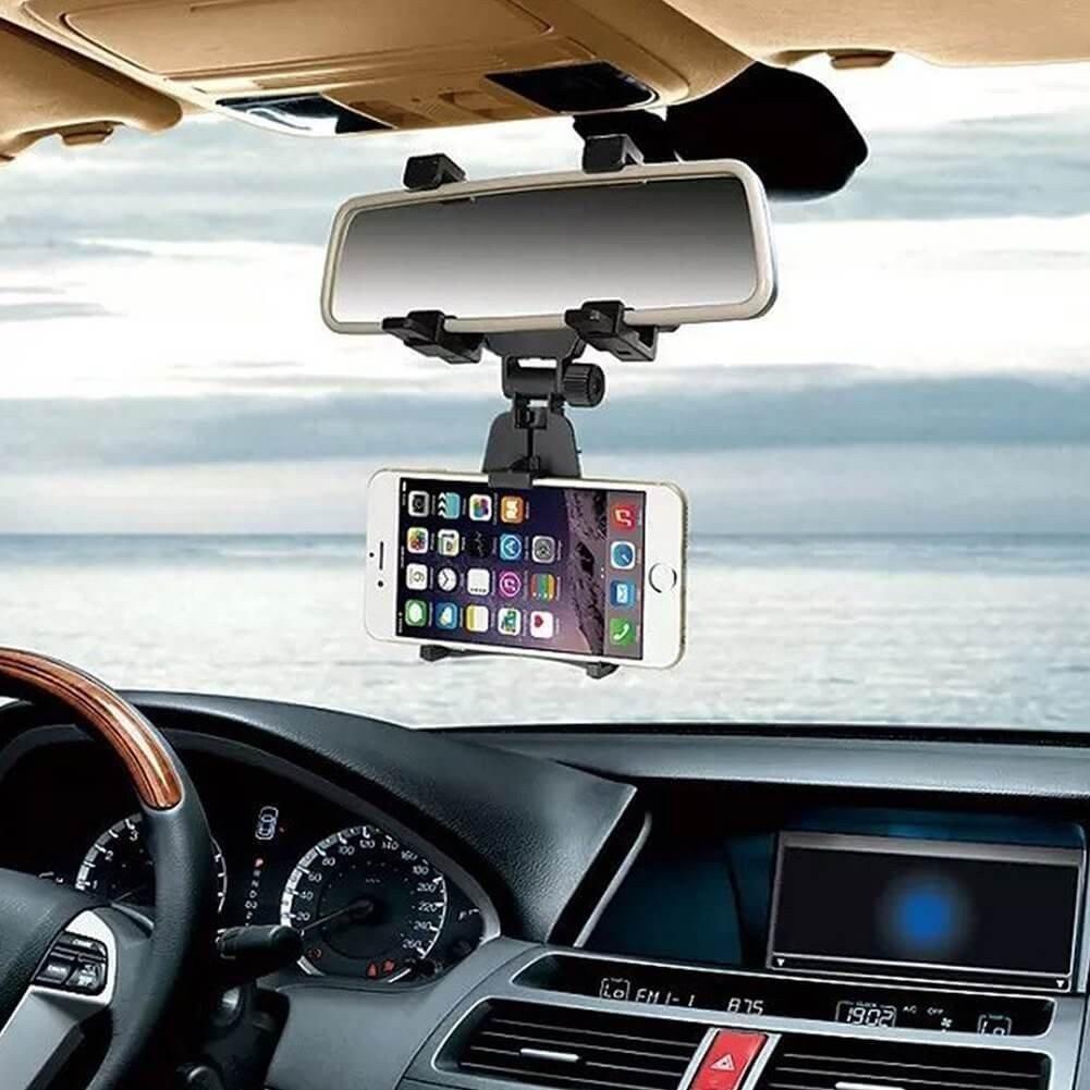 Telefoonhouder voor binnenspiegel auto - universeel