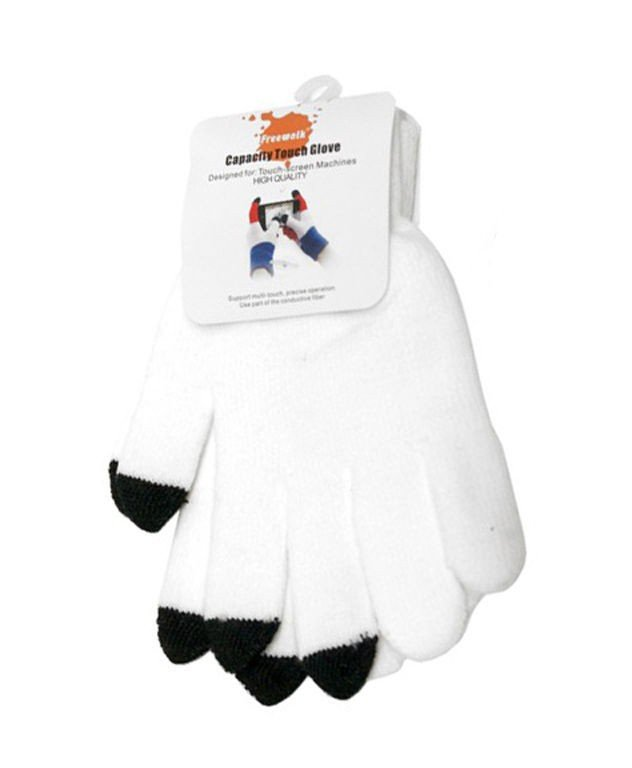 Touchscreen handschoenen wit