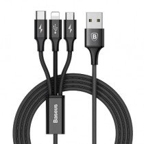 3 in 1 (USB-C / Lightning / Micro USB) laadkabel 3A