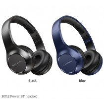 Draadloze bluetooth (V5.0) koptelefoon blauw - Extra Bass - BO12