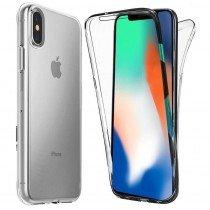 Apple iPhone X TPU hoesje voor + achter