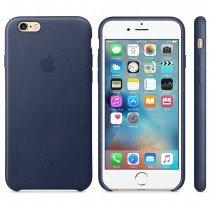Apple leren hoesje voor iPhone 6/6S - blauw - MKXU2ZM/A
