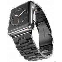 38mm horloge bandje RVS voor Apple Watch - zwart