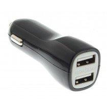 Autolader 2x 1A USB universeel zwart