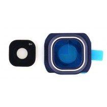 Back camera lens cover Samsung Galaxy S6 Edge blauw/zwart