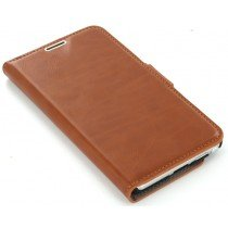 Book case leer Samsung Galaxy Note 3 N9005 bruin