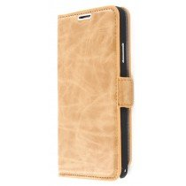 Book case leer Samsung Galaxy Note 3 N9005 licht bruin