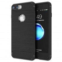 Carbon TPU hoesje Apple iPhone 8 Plus zwart