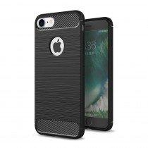 Carbon TPU hoesje Apple iPhone 8 zwart
