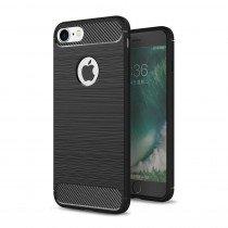 Carbon TPU hoesje Apple iPhone SE (2020) zwart