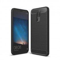 Carbon TPU hoesje Huawei Mate 10 Lite zwart