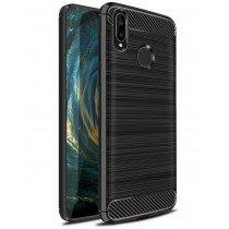 Carbon TPU hoesje Huawei P20 Lite zwart