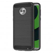 Carbon TPU hoesje Motorola Moto G6 Plus zwart