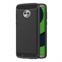 Carbon TPU hoesje Motorola Moto G6 zwart