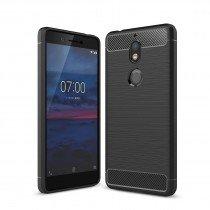 Carbon TPU hoesje Nokia 7 Plus zwart