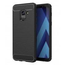 Carbon TPU hoesje Samsung Galaxy A8+ 2018 zwart