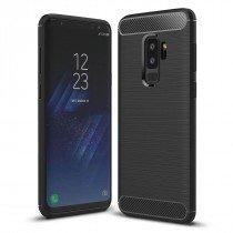 Carbon TPU hoesje Samsung Galaxy S9+ zwart