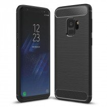 Carbon TPU hoesje Samsung Galaxy S9 zwart