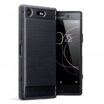Carbon TPU hoesje Sony Xperia XZ1 Compact zwart