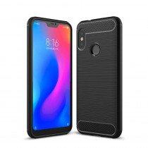 Carbon TPU hoesje Xiaomi Mi A2 Lite zwart