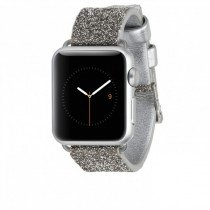 Case-Mate Apple Watch 38mm horloge bandje brilliance zilver - Zijkant