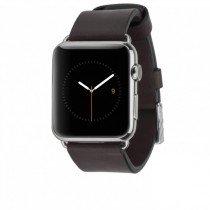 Case-Mate Apple Watch 42mm horloge bandje leer zwart - Zijkant