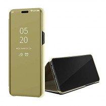 Clear View cover Samsung Galaxy A50s goud