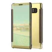 Clear View cover Samsung Galaxy Note 8 goud