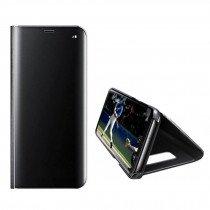 Clear View cover Samsung Galaxy S6 Edge zwart