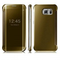 Clear View cover Samsung Galaxy S6 goud