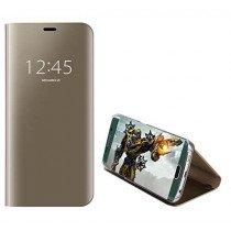 Clear View cover Samsung Galaxy S7 Edge goud